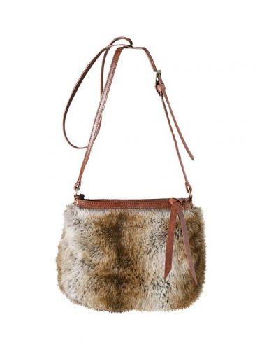 Small Fur Shoulder Bag Camel