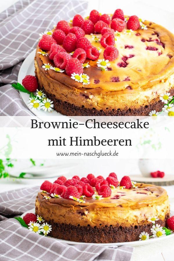 Brownie-Cheesecake mit Himbeeren   Mein Naschglück