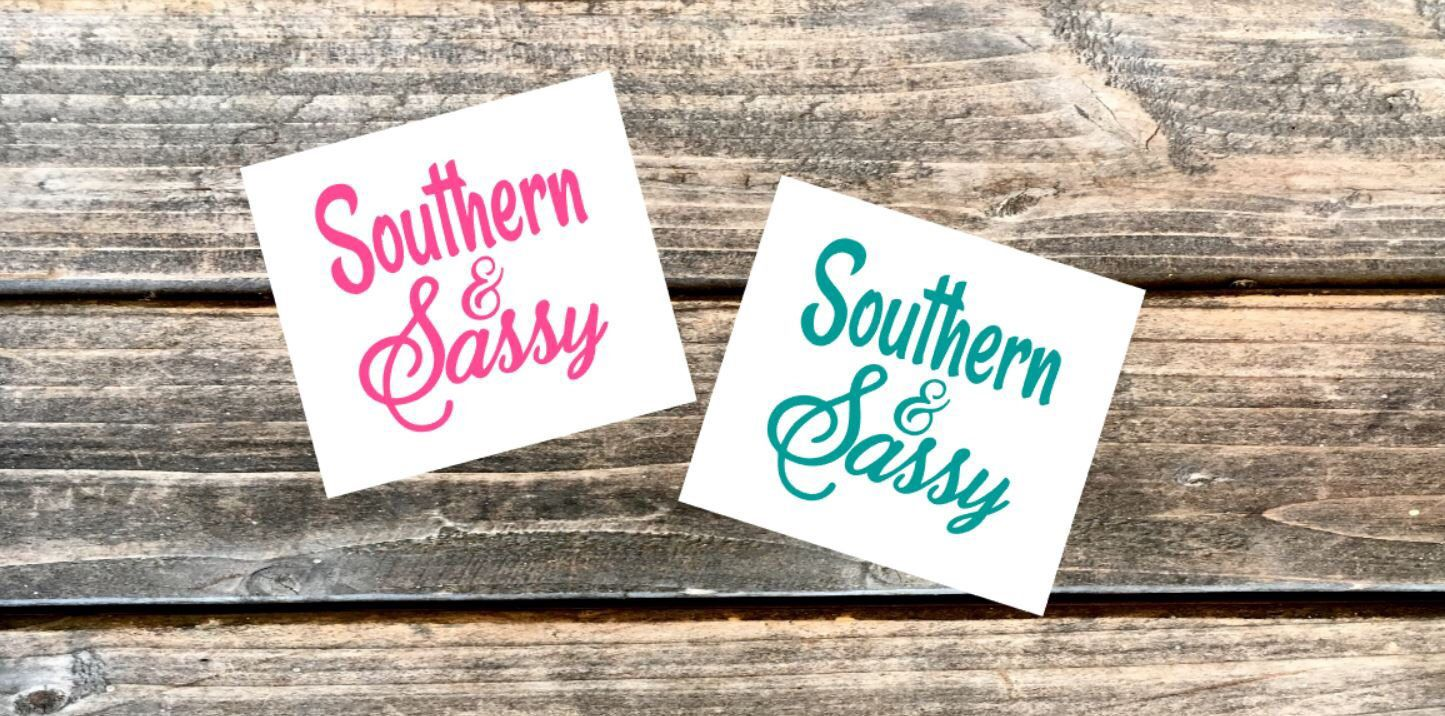 Southern And Sassy Decal Sassy Vinyl Decal Tumbler Decal Etsy Decals For Yeti Cups Tumbler Decal Initials Decal [ 716 x 1445 Pixel ]