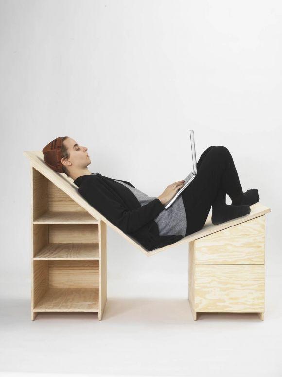Minna Magnusson All In One Desk And Chair Gessato Small Space Design Desktop Design Space Design