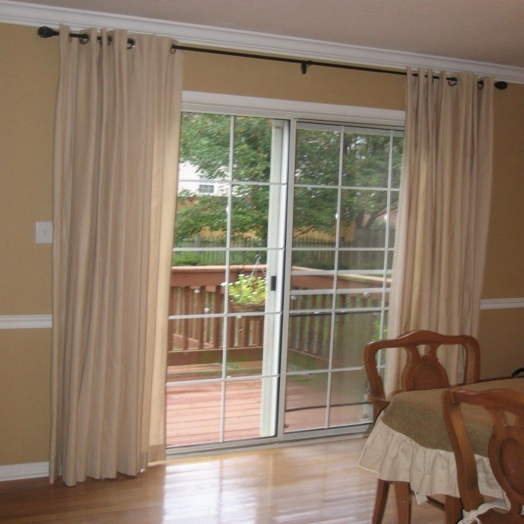 Sliding Curtain Rods For Sliding Glass Doors With Vertical Blinds In 2020 Sliding Glass Door Window Door Coverings Sliding Glass Door Curtains