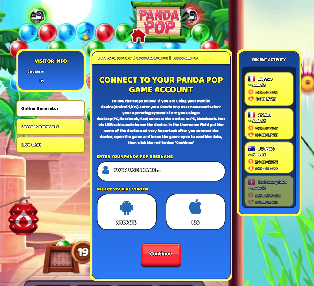 Panda Pop hack how to get unlimited Coins and Lives