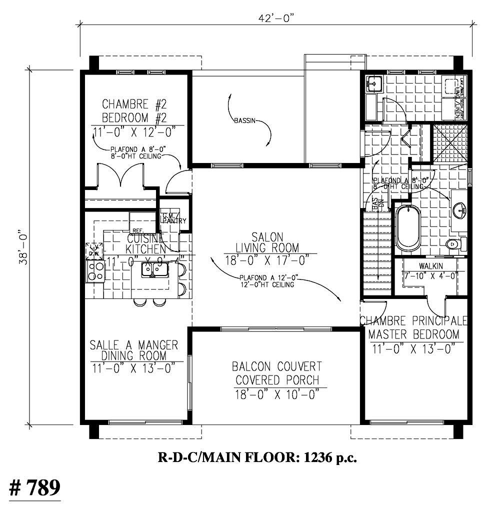 789 Le Magnence Bungalow Chaise Roulante Mobilite Reduite Handicape Plain Pied Plans Design Contemporary House Plans House Plans Contemporary Style Homes