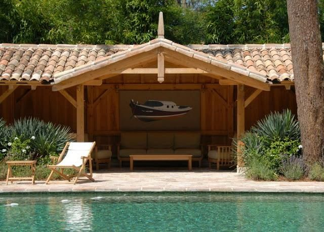 Des cabanes, mais pas n\u0027importe lesquelles Ferret, Pool houses and - location maison cap ferret avec piscine