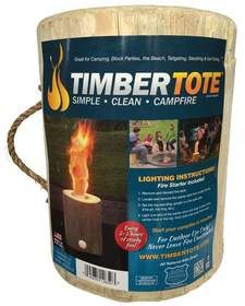 Timber Tote 16-0619 One Log Campfire