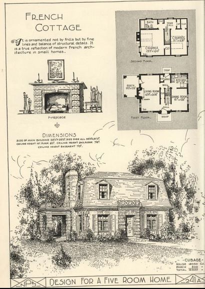 Love The Look Of This Small Mansard Roof House Mansard Roof House Mansard Roof Vintage House Plans French Cottage