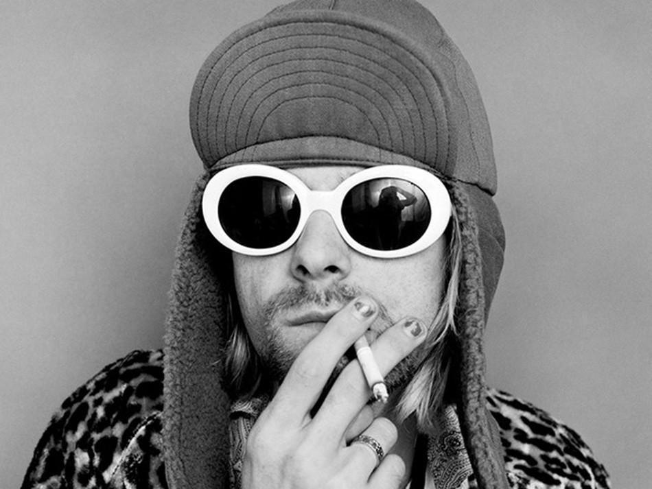 23a6bf4750 Gafas Kurt Cobain Unisex Retro Vintage Blanco con Negro compra México compra  100% seguro en línea