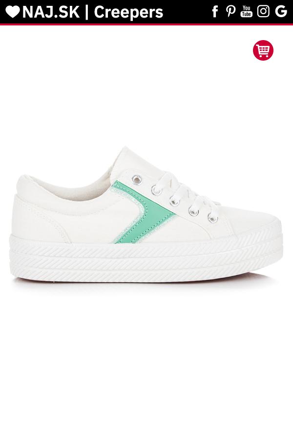 Biele tenisky na platforme Kylie v roku 2019  24c711b054d