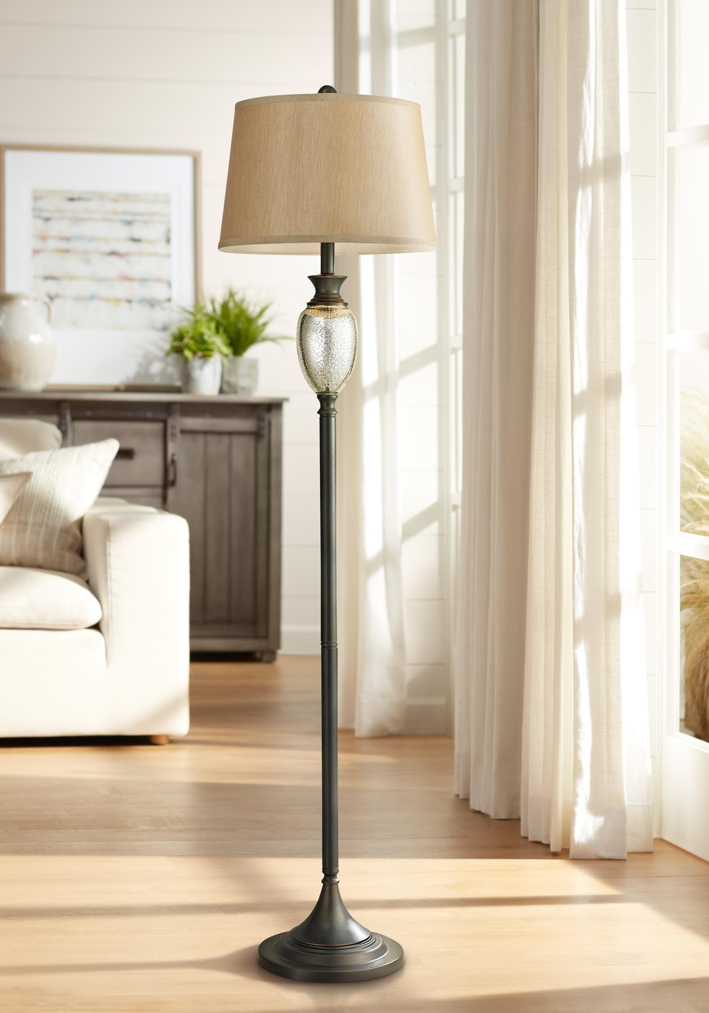 Floor Lamps Caledon 63 High Mercury Glass And Bronze Floor Lamp In 2020 Floor Lamp Styles Bronze Floor Lamp Floor Lamp
