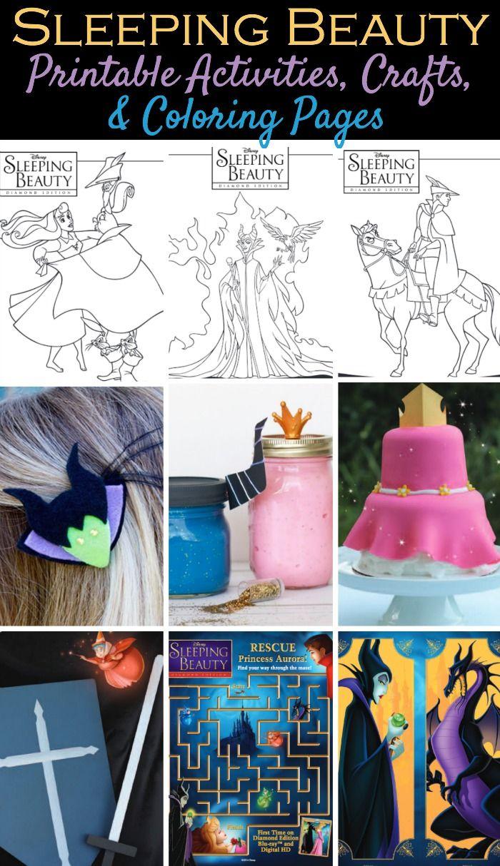 Disneyus sleeping beauty free printable activities coloring pages