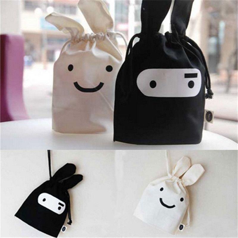164c66ab200a Korean Style Ninja Rabbit Bunny Small Cute Pocket Bag Black White ...