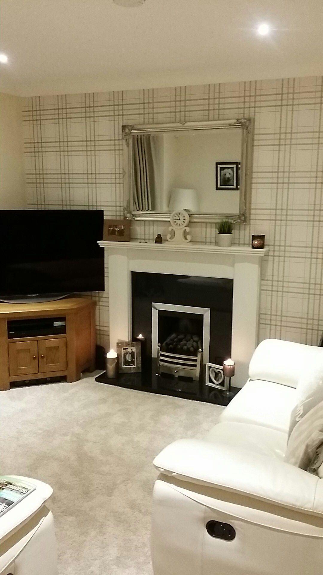 Cream Lounge With Tartan Wallpaper Marble Interior Car