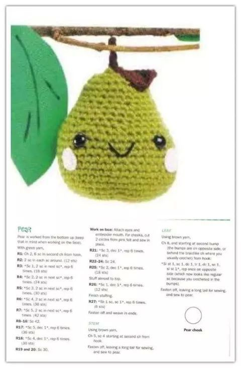 Pera amigurumi patron | crochet tutorials/ patterns/charts ...