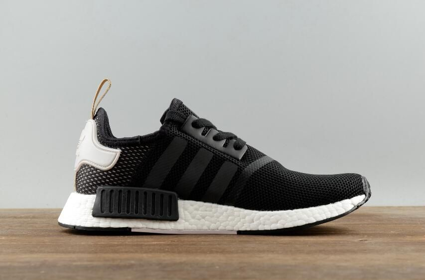 44a62aafc Adidas Original NMD R1 BA7751 Black Khaki Real Boost Walking Sneakers 4 Adidas  Nmd R1