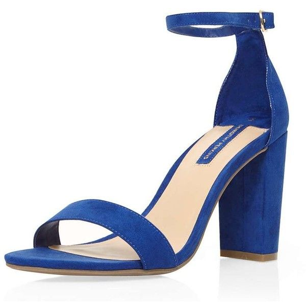Dorothy Perkins Blue 'Carson' heeled sandals ($49) ❤ liked on Polyvore  featuring