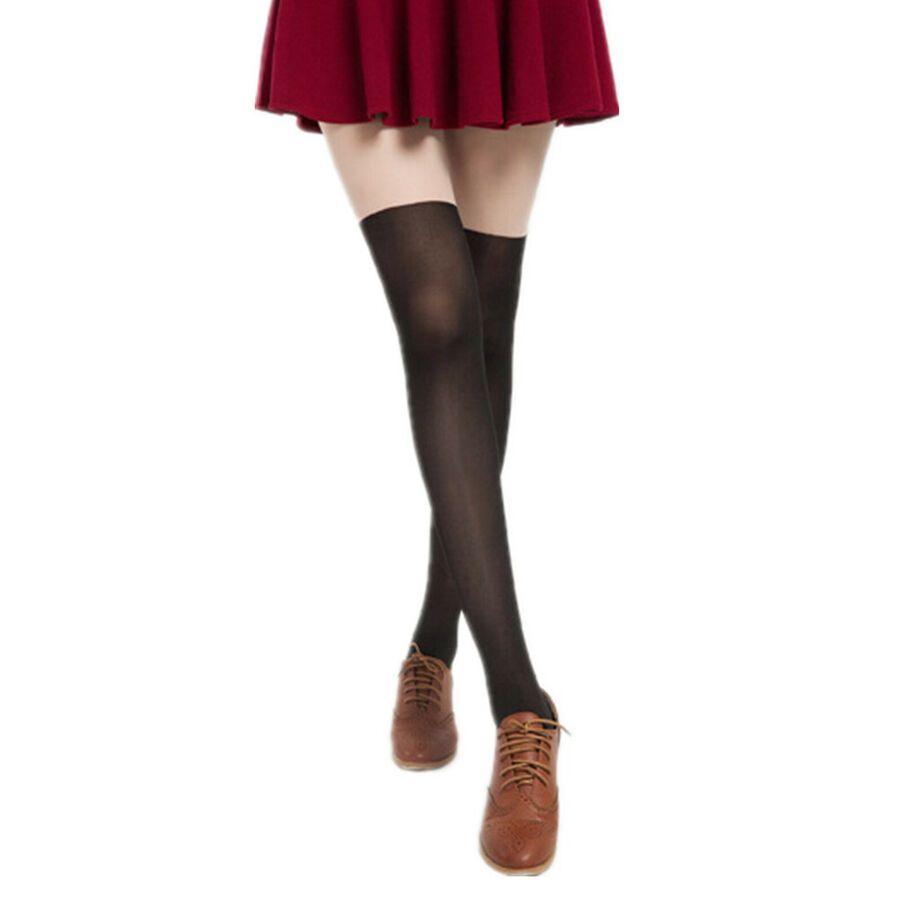 467c2e40ad589 Cute Women Girls Tattoo Socks Sheer Pantyhose Hosiery Mock Tights Stockings  High Tattoo Socks