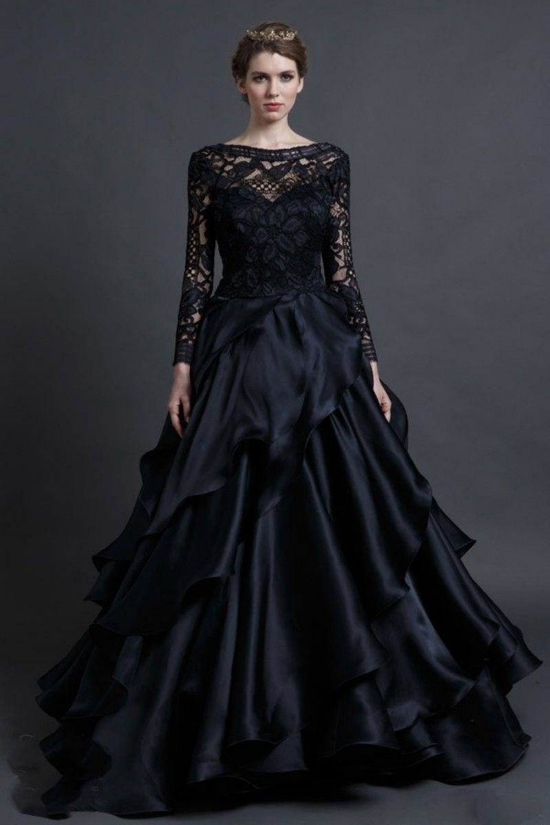 Black dress tumblr - Black And Purple Gothic Wedding Dress Unbelievable Dresses