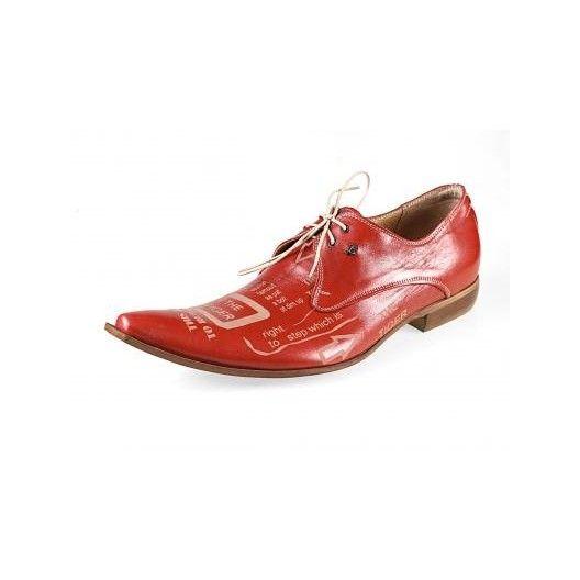 3f8c7536a783 Pánske kožené extravagantné topánky červené PT054 - manozo.hu ...