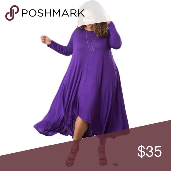 Purple Asymmetrical Drape Pocket Dress Plus Purple Asymmetrical Dress Dresses Career Dress