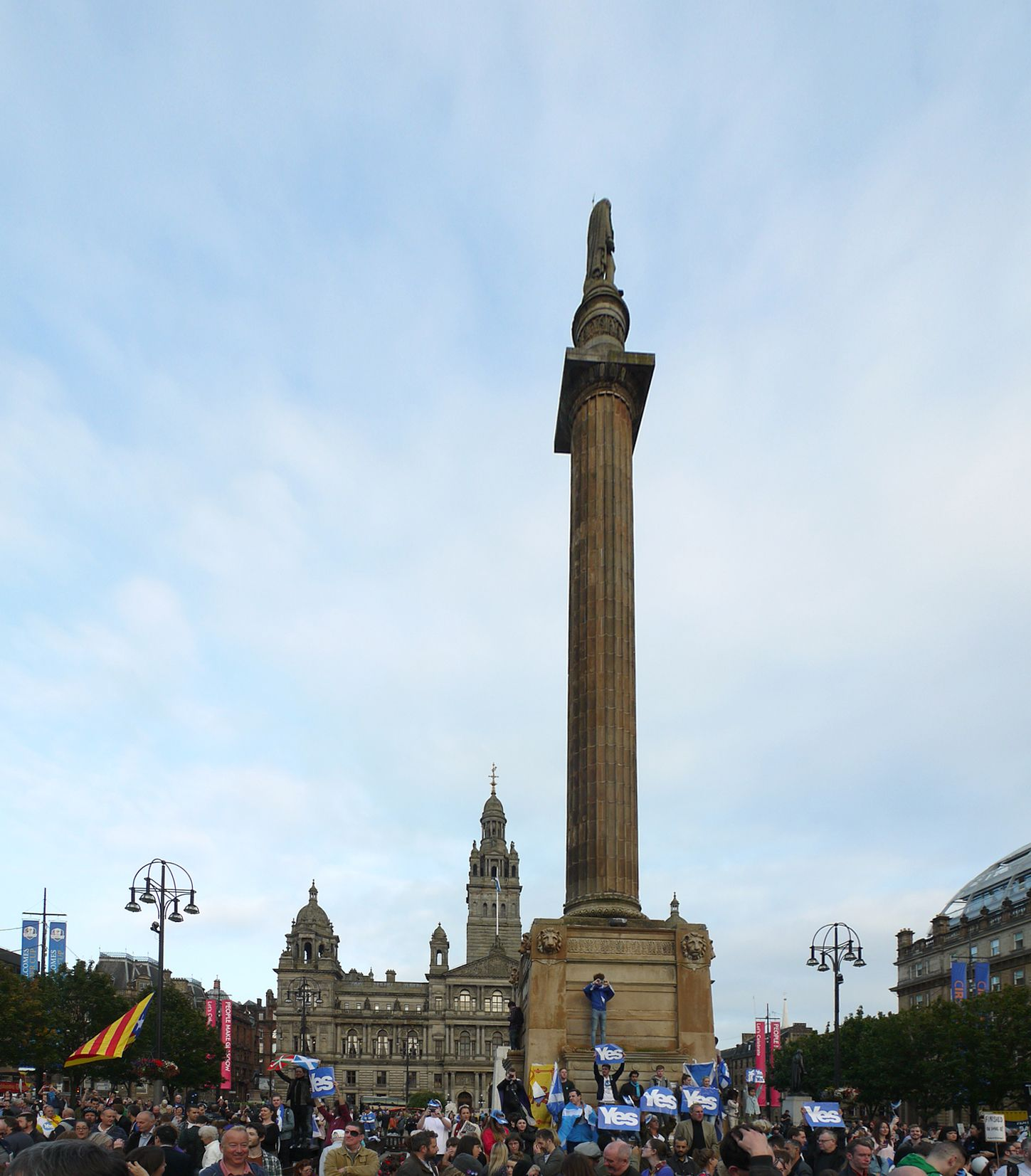 George Square Glasgow  Independence rally of hopeful yes voters