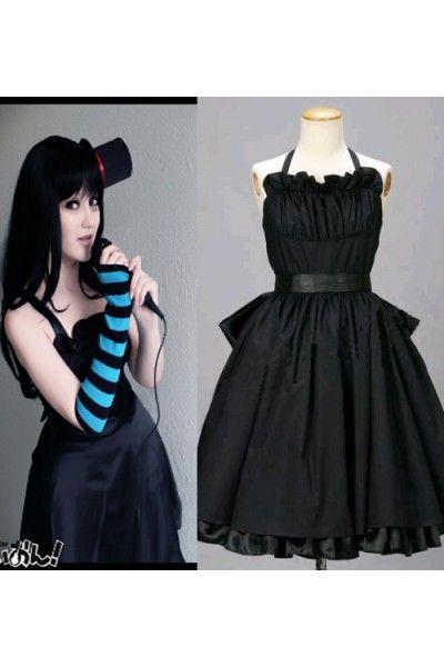 K-ON! Akiyama Mio Black Dress Cosplay Outfits Costumes. Anime  CostumesCosplay CostumesBlack Dress Halloween ...