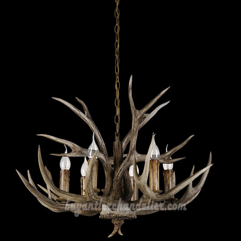 Cheap 6 antler chandelier six cast cascade candle style ceiling cheap 6 antler chandelier six cast cascade candle style 6 ceiling lights rustic lighting fixtures aloadofball Choice Image