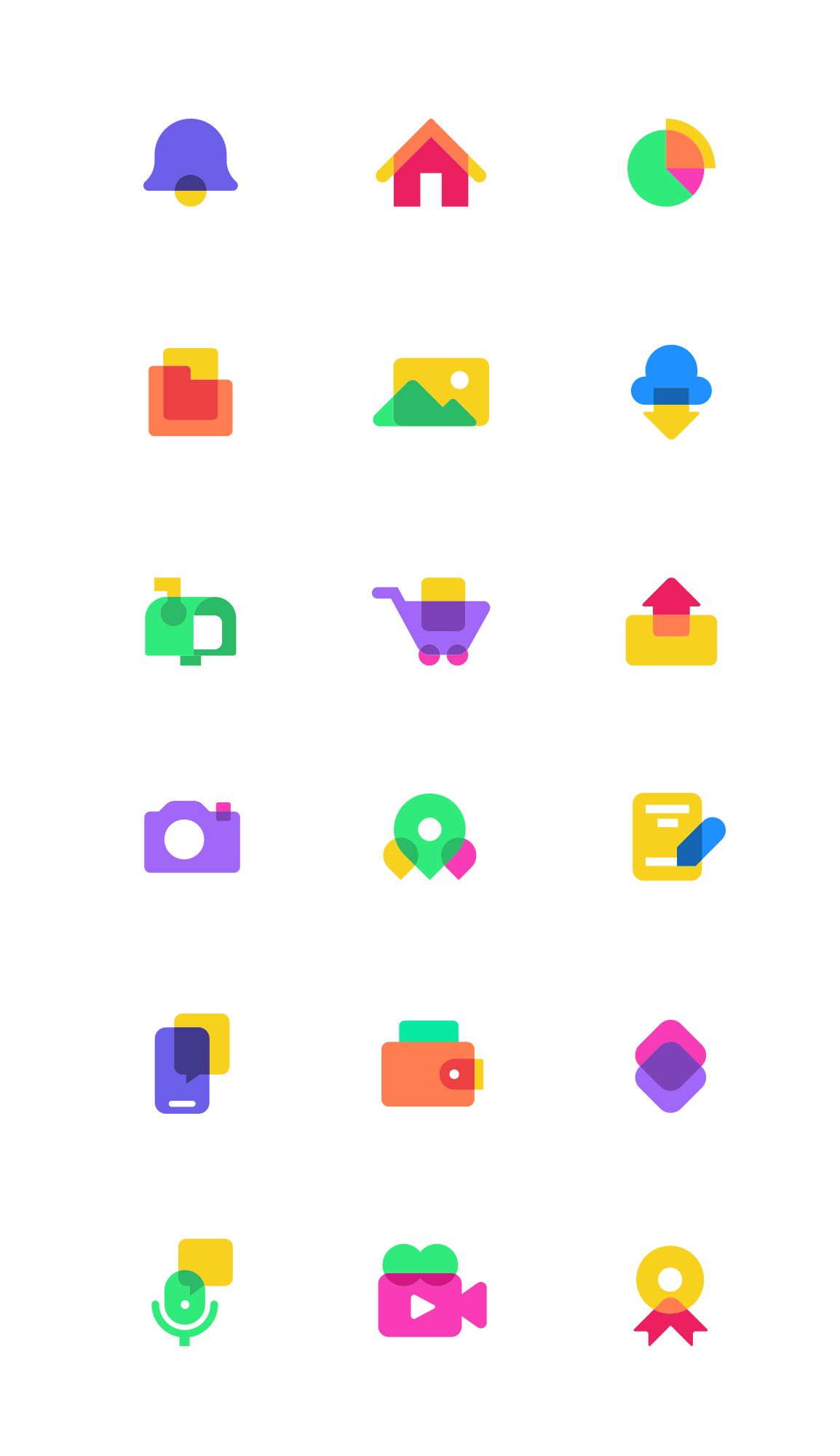 Colorful Icons 2 Gigantic Flat Design Illustration And 2d Animation In 2020 Flat Design Icons Icon Set Design Icon Design Inspiration