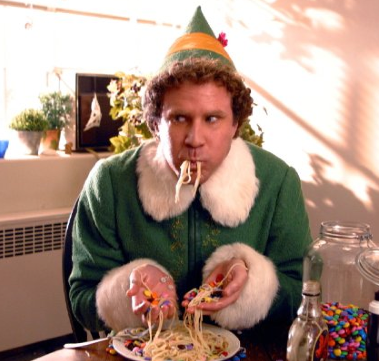 We elves like to stick to th 4 main food groups Syrup