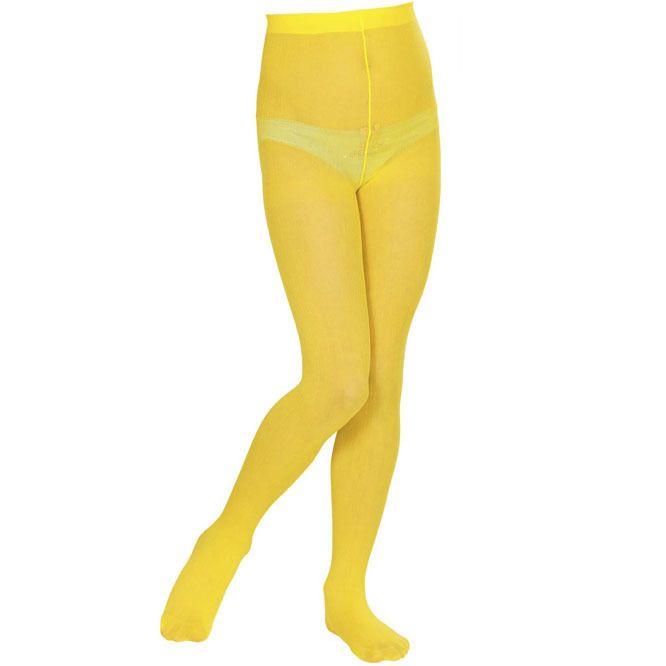 Panty infantil liso - Amarillo