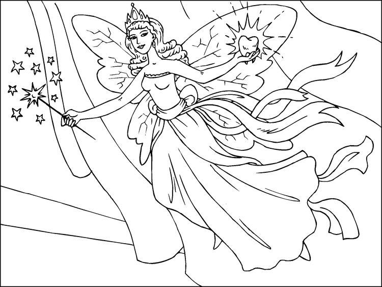 Coloring Page Tooth Fairy Fairy Coloring Pages Fairy Coloring