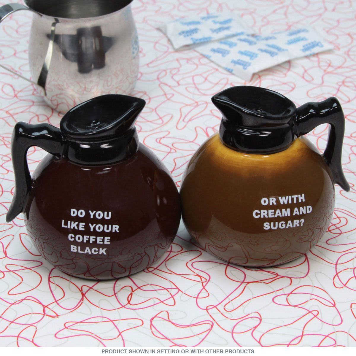 Drip Coffee Pot and Cup Salt and Pepper Shakers vintage