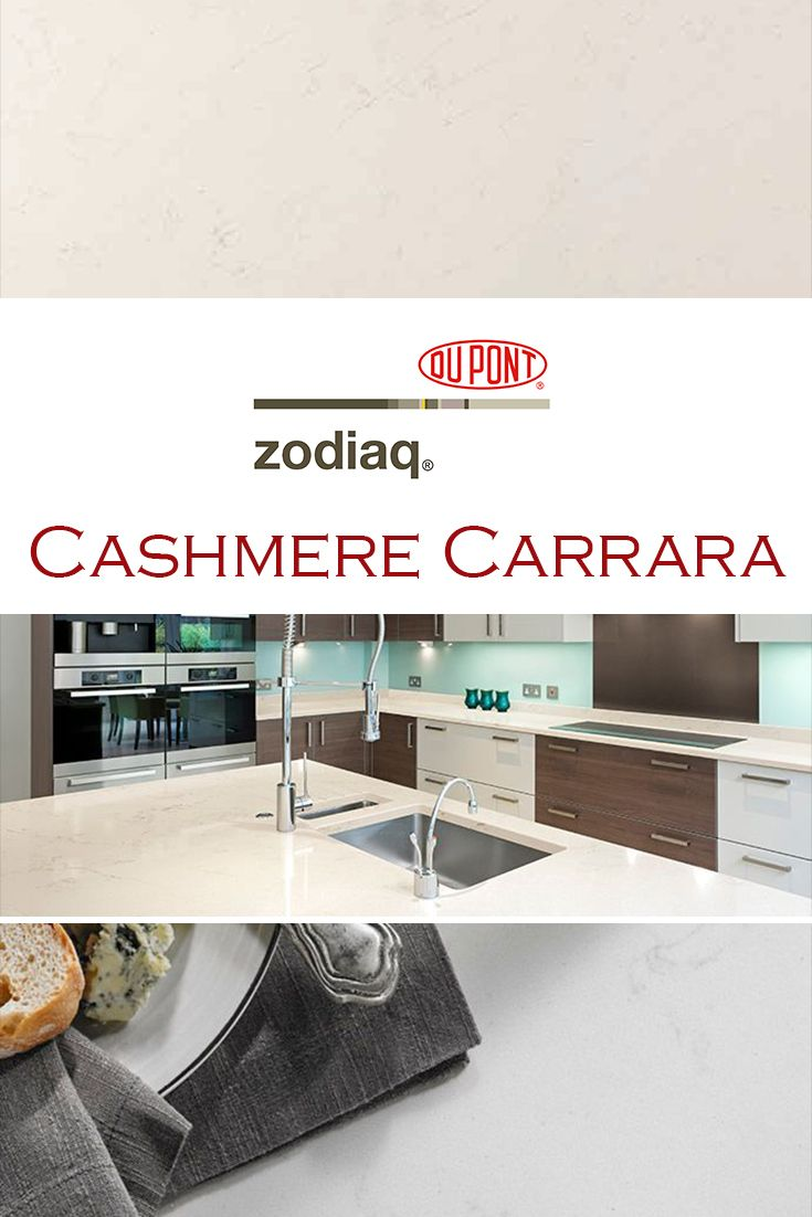 Cashmere Carrara By Zodiaq Is Perfect For A Kitchen Quartz Countertop Repla Kitchen Countertops Granite Colors Quartz Kitchen Countertops Replacing Countertops