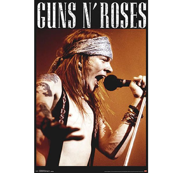 Guns N' Roses Poster Axl Rose Live on stage. Hier bei www.closeup.de