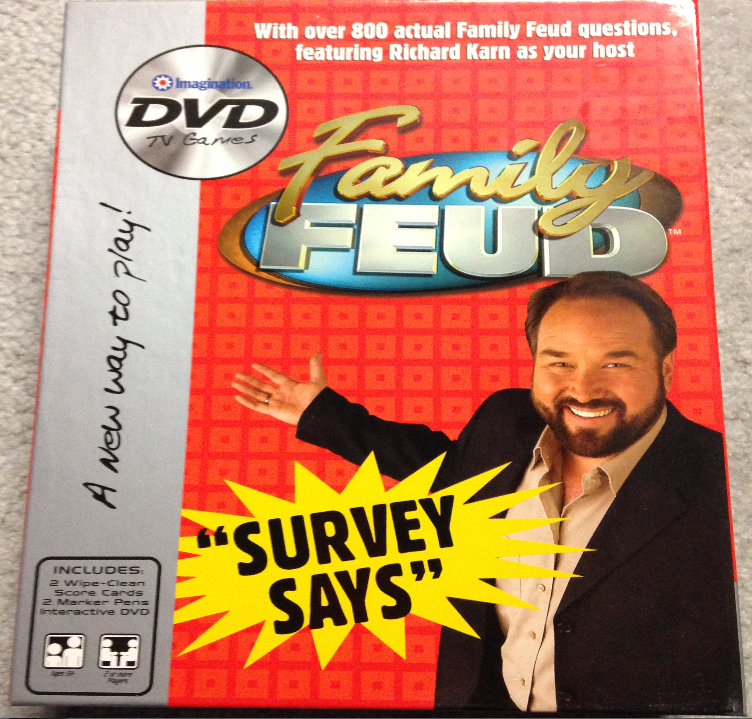 Game Time! Family Feud DVD Edition Family feud, Feud