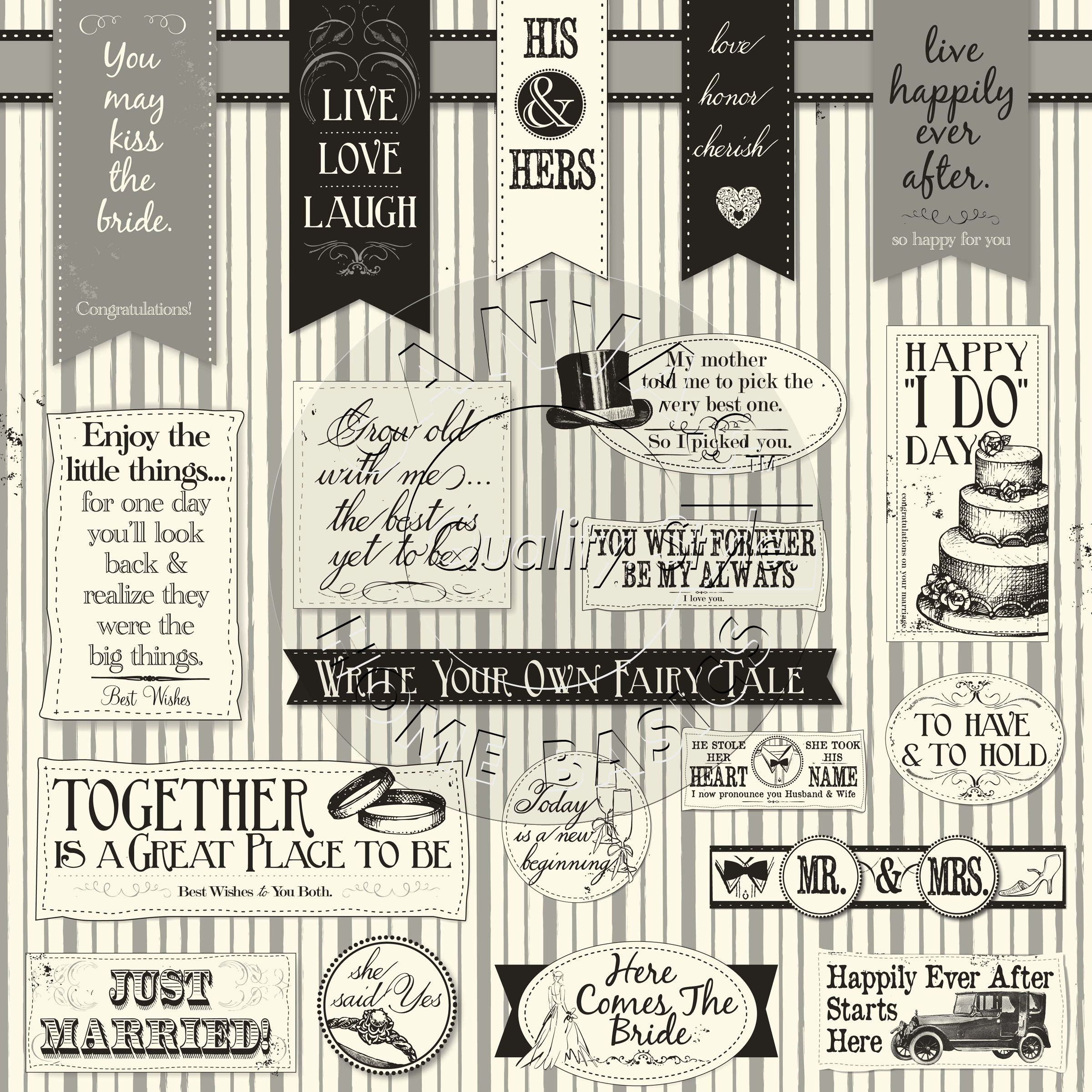 CCP2809 Canvas Home Basics 'His and Hers Sayings' 12x12