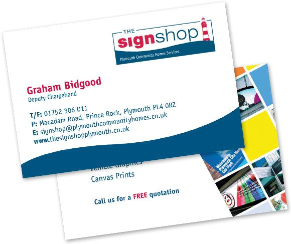 Pch the sign shop business cards printing in plymouth dv8media pch the sign shop business cards printing in plymouth colourmoves