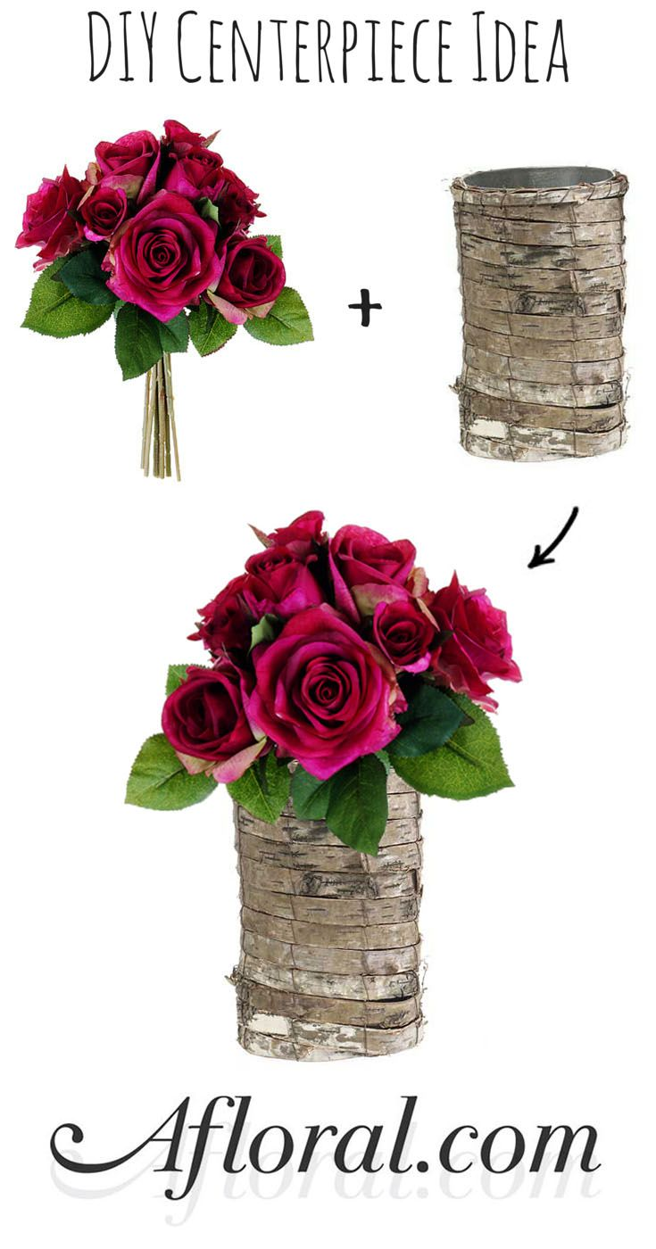 DIY Rustic Centerpiece. Cheap wedding ideas. Create this look for ...