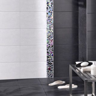 carrelage douche litalienne faence noire mate - Carrelage Murale Salle De Bain