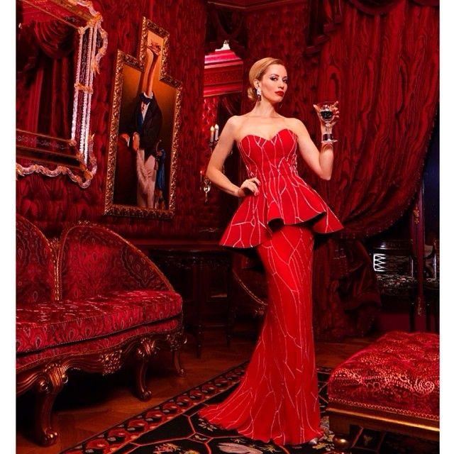 Kirmizi Balik Nisan Elbisesi Kiyafet Elbise Moda