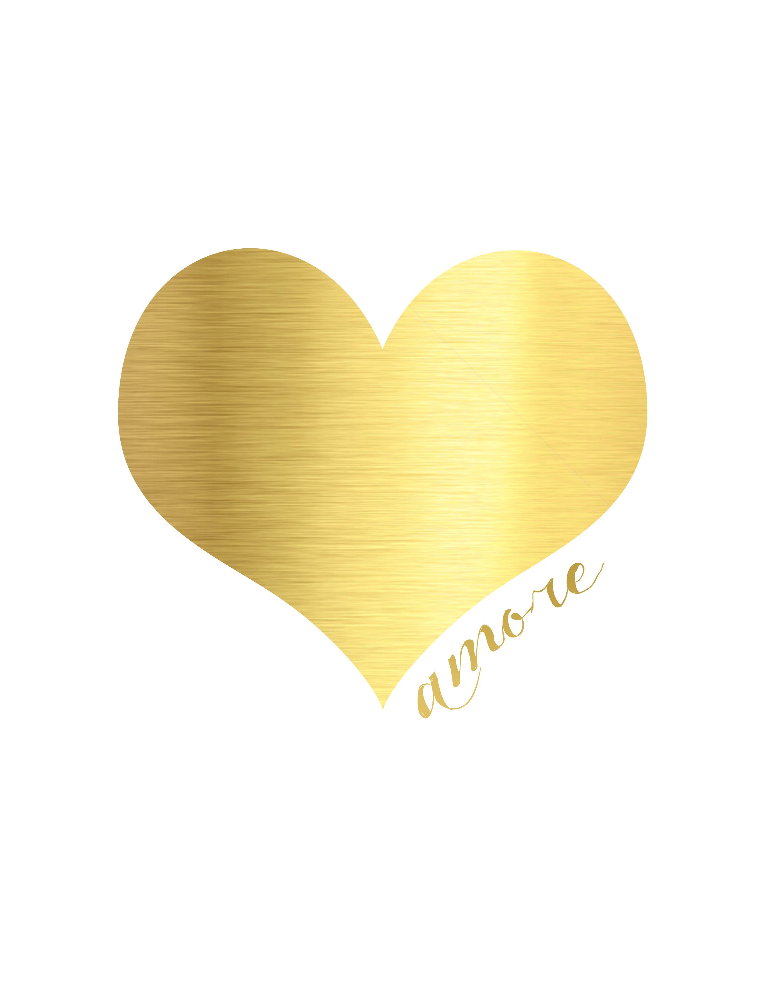 Gold Valentine S Day Printables
