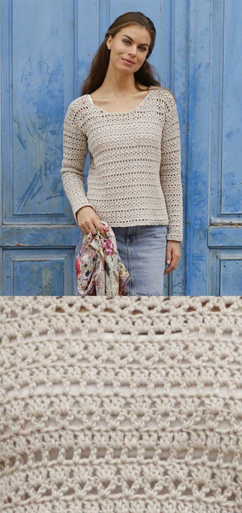 Free Crochet Pattern for a Woman's Lace Sweater ⋆ Crochet Kingdom