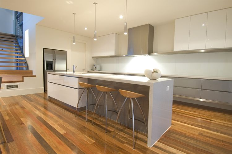 Best Fabulous Kitchen Grey And White Timber Floors Modern 400 x 300