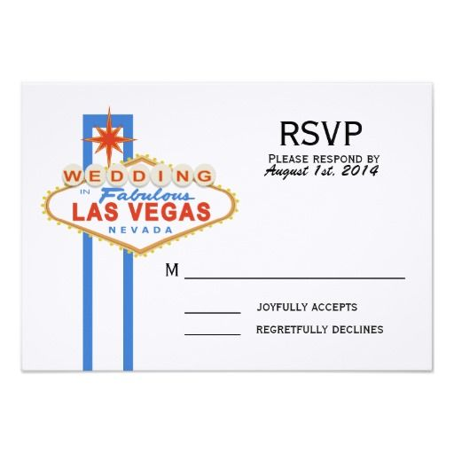 Las Vegas Sign Wedding Response Card 35 - best of invitation cards for wedding price