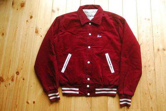 On Sale Vintage MALT'S BEAR Reversible Varsity Jacket Rare aN22T