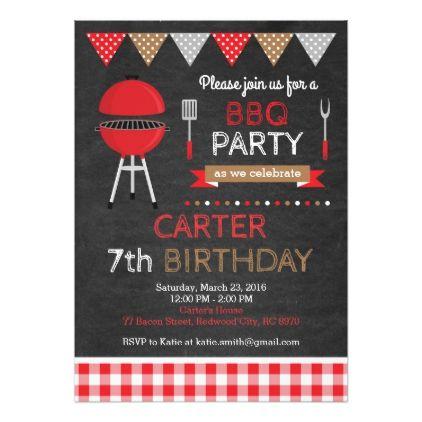 bbq birthday invitation birthdayinvitation birthday party