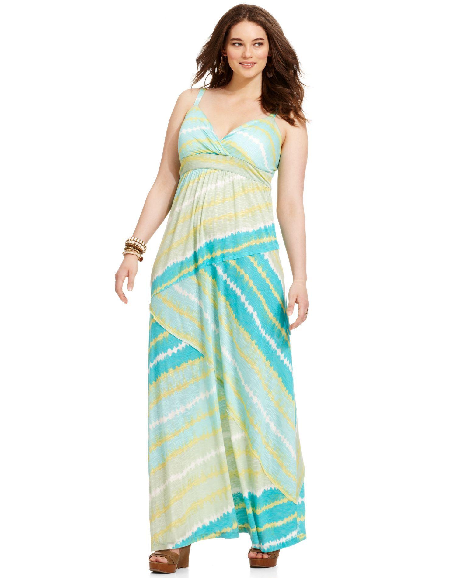 american rag plus size dress, sleeveless tie-dye maxi   products