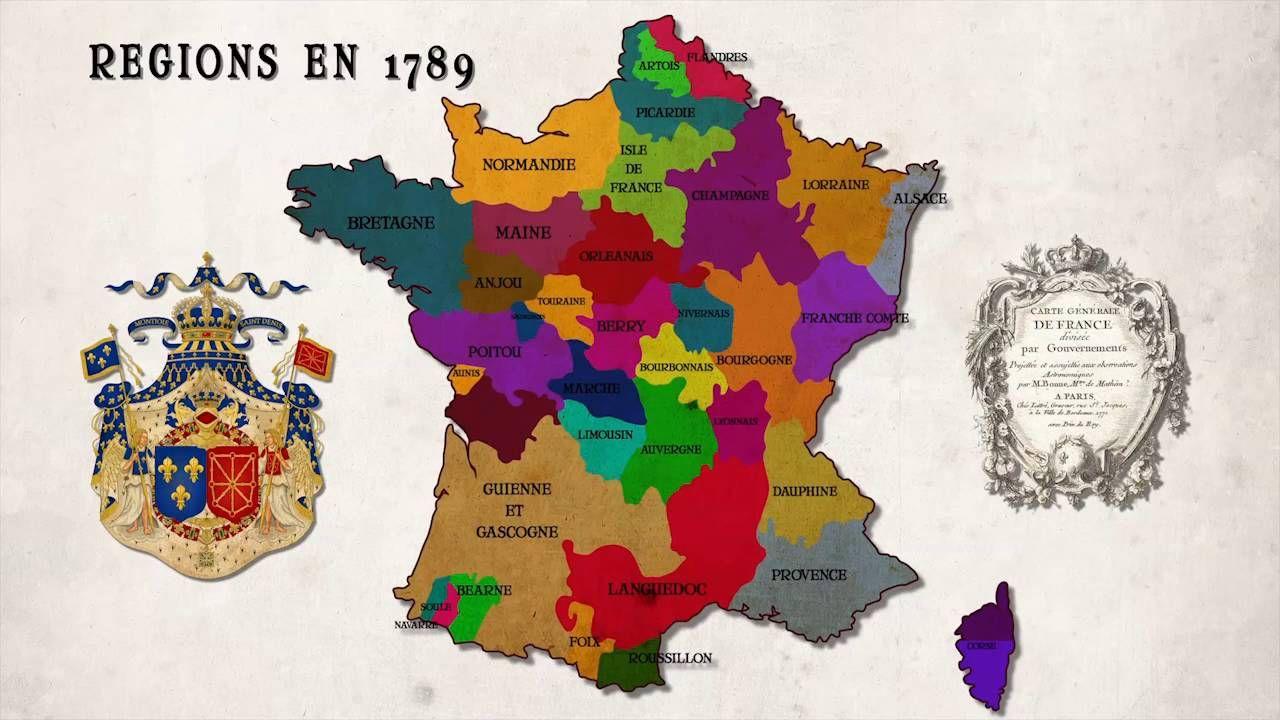 Création des départements français Départements français