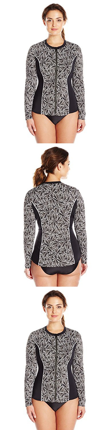 ca412cb43ef13 Fit 4 U Women s Twisted Long Sleeve Rashguard with Built-In Bra and Upf 50