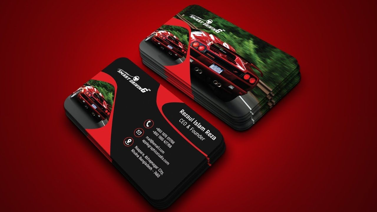 Car company business card design photoshop tutorial business car company business card design photoshop tutorial reheart Gallery