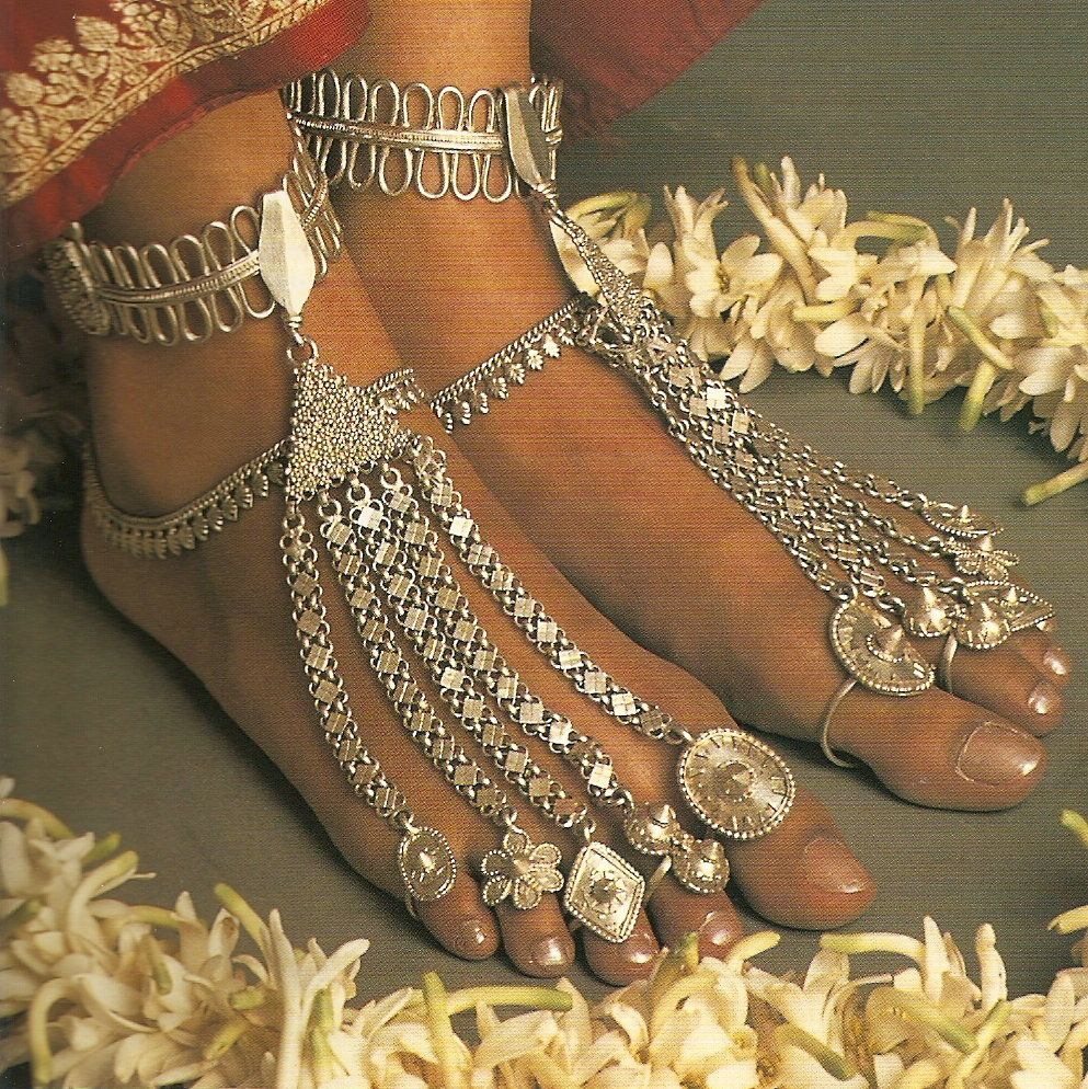 Indigenous Body Adornment / Jewelry in India | Body adornment jewellery,  Bridal foot jewelry, Body adornment